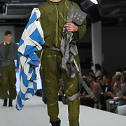 Designer Enki Allan at the Best of Graduate Fashion Week showcases at the Graduate Fashion Week 2018, June 6 2018 at Truman Brewery, London, UK.
