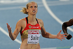 29.07.2010, Olympic Stadium, Barcelona, ESP, European Athletics Championships Barcelona 2010, im Bild Verena Sailer GER wins the 100 meter . GER EXPA Pictures © 2010, PhotoCredit: EXPA/ nph/ . Ronald Hoogendoorn+++++ ATTENTION - OUT OF GER +++++