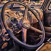 1950s Chevrolet Truck Distressed Interior Dash - Eldorado Canyon - Nelson NV - HDR