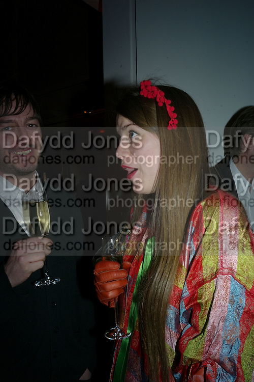 MATTHEW COOK AND MOLLY OF PLASTER OF PARIS, TOD'S Art Plus Film Party 2008. Party to raise funds for the Whitechapel art Gallery.  One Marylebone Road, London NW1, 6 March, 8.30 - late<br /> *** Local Caption *** -DO NOT ARCHIVE-&copy; Copyright Photograph by Dafydd Jones. 248 Clapham Rd. London SW9 0PZ. Tel 0207 820 0771. www.dafjones.com.