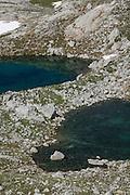Lloroza lakes and Horcados Rojos route above Fuente De, Picos de Europa National Park, Cantabria <br /> , Spain