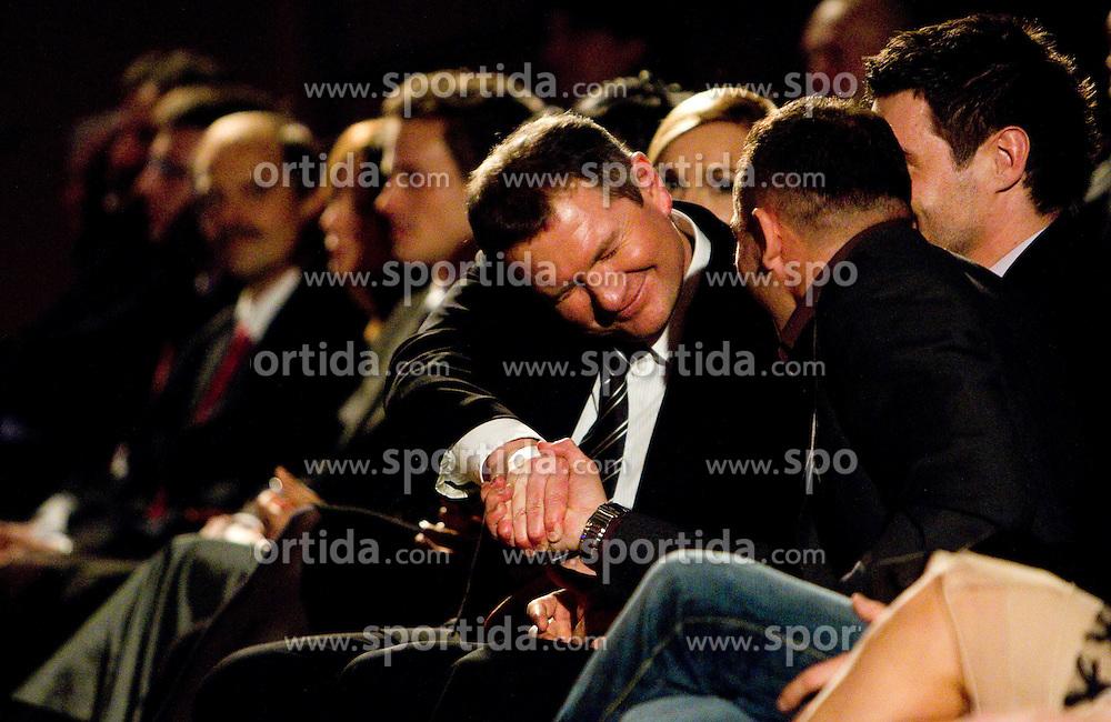 Matjaz Kek and Dejan Zavec at Slovenian Sportsman of the year and Slovenian Sportswoman of the year 2010 annual awards presented on the base of Slovenian sports reporters, on December 22, 2010 in Cankarjev dom, Ljubljana, Slovenia. (Photo By Vid Ponikvar / Sportida.com)