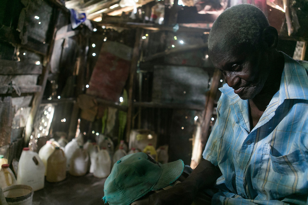 Ynocencio Yose, 86, has been waiting one year for his pension and has recently lost his sight. Here he is pictured in his home on Saturday, Aug. 22, 2015 in Batey Monte Coca, Dominican Republic. <br /> (Michelle Kanaar/ For the Miami Herald)<br /> Publication Date: Oct. 21, 2015