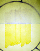 abstraction in yellow and line forms