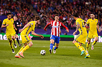 Atletico de Madrid's player Fernando Torres and CF Rostov's player Timofei Kalachev and César Navas during a match of UEFA Champions League at Vicente Calderon Stadium in Madrid. November 01, Spain. 2016. (ALTERPHOTOS/BorjaB.Hojas)