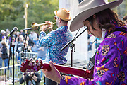Flow Tribe performs on the main stage at the first annual Abita Fall Fest in Abita Springs Park on November 2, 2019; photo ©2019, George H. Long