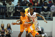 "Tennessee Volunteers guard Josh Richardson (1) vs. Mississippi Rebels guard Jarvis Summers (32) at the C.M. ""Tad"" Smith Coliseum in Oxford, Miss. on Saturday, February 21, 2015. (AP Photo/Oxford Eagle, Bruce Newman)"