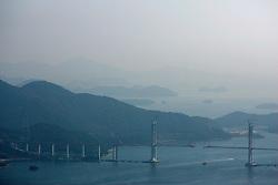 SOUTH KOREA MASAN 28OCT07 - General view of the Bay of Masan and bridge construction project from the hills surrounding Masan, south Korea...jre/Photo by Jiri Rezac..© Jiri Rezac 2007..Contact: +44 (0) 7050 110 417.Mobile:  +44 (0) 7801 337 683.Office:  +44 (0) 20 8968 9635..Email:   jiri@jirirezac.com.Web:    www.jirirezac.com..© All images Jiri Rezac 2007 - All rights reserved.