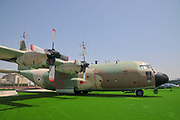 An Israeli Air force (IAF) exhibition. C-130 Hercules 100 transport plane on the ground