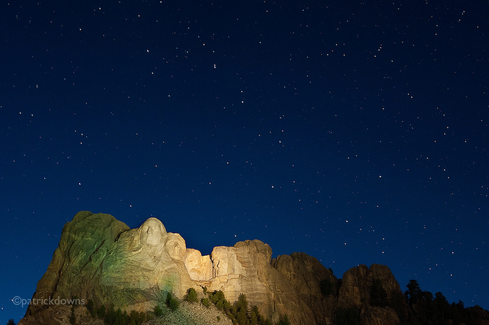 Mt. Rushmore under the Big Dipper. September 2012 © Patrick Downs