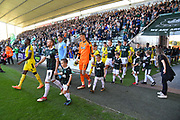 The Players walk out of the tunnel for the match before the EFL Sky Bet League 1 match between Plymouth Argyle and Burton Albion at Home Park, Plymouth, England on 20 October 2018.