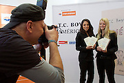 """Vienna, Austria.<br /> """"Eine Stadt, ein Buch (one city, one book)"""" opening ceremony  at the Hauptbücherei (main library), Urban-Loritz-Platz.<br /> As every year since 2002, the city of Vienna in cooperation with various sponsors gives away 100.000 free copies of a book by a world class author, this time """"América"""" (The Tortilla Curtain) by American author T.C. Boyle.<br />More info at www.einestadteinbuch.at"""