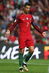 August 31, 2017 - Venice, Porto, Italy - Portugal's forward Cristiano Ronaldo reacts during the FIFA World Cup Russia 2018 qualifier match between Portugal and Faroe Islands at Bessa Sec XXI Stadium on August 31, 2017 in Porto, Portugal. (Credit Image: © Dpi/NurPhoto via ZUMA Press)
