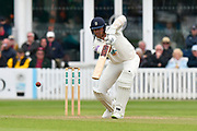 Kyle Abbott of Hampshire batting during the opening day of the Specsavers County Champ Div 1 match between Somerset County Cricket Club and Hampshire County Cricket Club at the Cooper Associates County Ground, Taunton, United Kingdom on 11 May 2018. Picture by Graham Hunt.
