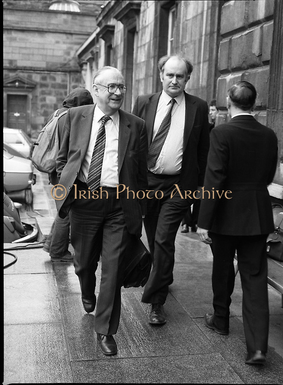 TDs arrive for the opening session of the 23rd Dáil...9-03-82.03-09-1982.9th March 1982..Pictured At Leinster House. ..Determined strides