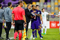 Marcos Morales Tavares #9 of NK Maribor and Darko Milanic head coach of NK Maribor during 1st Leg football match between NK Maribor (SLO) and FH Hafnarfjordur (ISL) in Third qualifying round of UEFA Champions League 2017/18, July 26, 2017, in Stadium Ljudski vrt, Maribor, Slovenia. Photo by Grega Valancic / Sportida