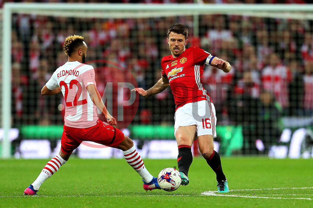 Michael Carrick of Manchester United  - Mandatory by-line: Matt McNulty/JMP - 26/02/2017 - FOOTBALL - Wembley Stadium - London, England - Manchester United v Southampton - EFL Cup Final