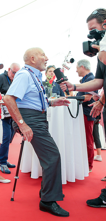 30.07.2016, Gröbming, AUT, Ennstal-Classic 2016, Geolyth-Prolog, im Bild Sir Stirling Moss // during the Ennstal-Classic 2016 in Gröbming, Austria on 2016/07/30. EXPA Pictures © 2016, PhotoCredit: EXPA / Martin Huber