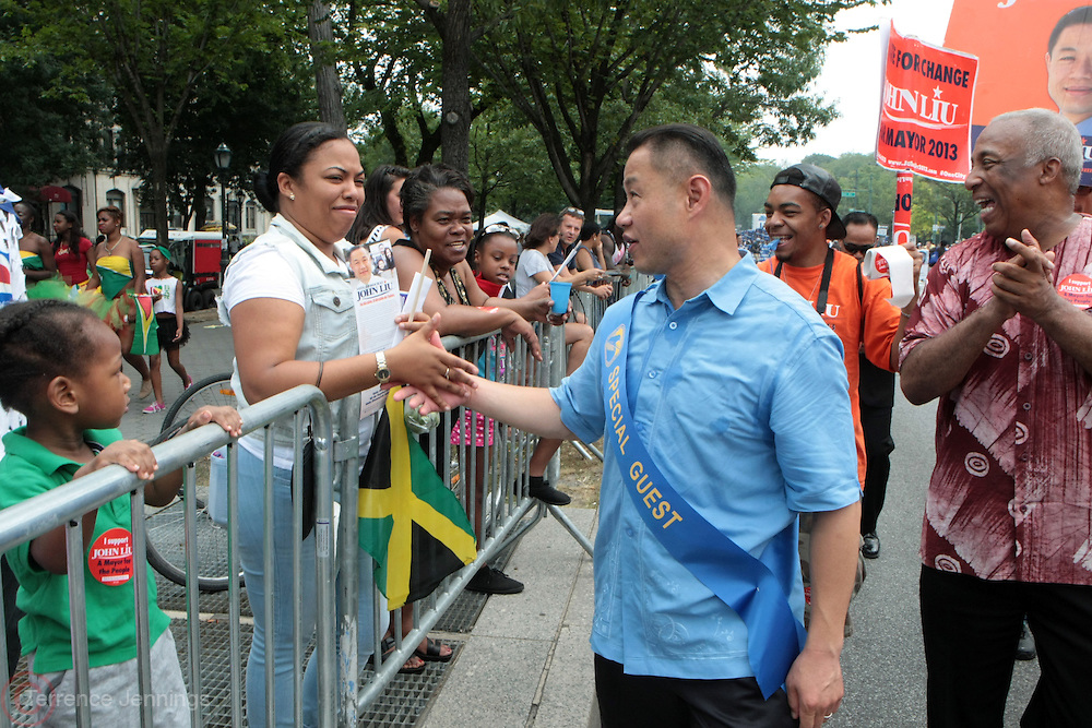 2 September 2013- Brooklyn, NY: New York City Comptroller and New York City Mayoral Candidate John Liu attends the 46th Annual West Indian Day Parade held along Eastern Parkway held on September 2, 2013 in Brooklyn, NY  ©Terrence Jennings