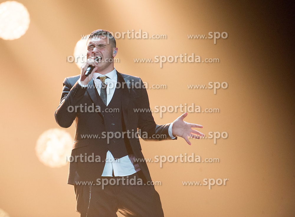 16.05.2015, Stadthalle, Wien, AUT, Eurovision Songcontest Vienna 2015, Zweite Probe des Zweiten Semifinales, im Bild Nadav Guedj aus Israel // Nadav Guedj from Israel during 2nd rehearsal of the 2nd Semi-Final for Eurivision Songcontest Vienna 2015 at Stadthalle in Vienna, Austria on 2015/05/16, EXPA Pictures © 2015, PhotoCredit: EXPA/ Michael Gruber