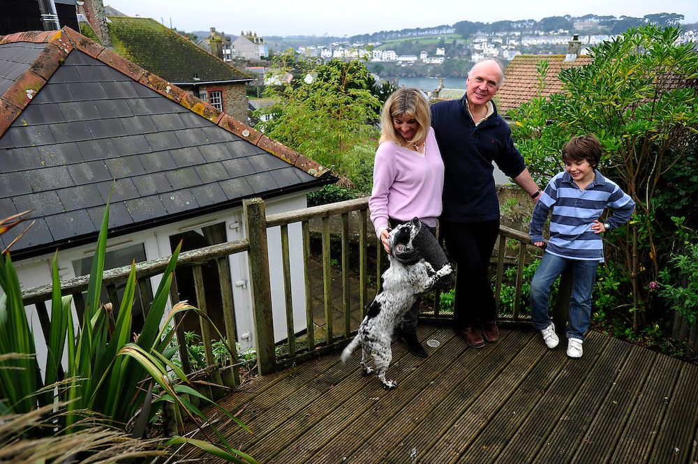 Picture By Jim Wileman 21/11/2011  Susie Coker, husband James, and their nine year old son Ollie, pictured at their holiday cottage, Polruan-by-Fowey, Cornwall.