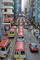 Chine, Hong Kong, Kowloon, Mongkok, transport en commun // China, Hong Kong, Kowloon, Mongkok, local buses