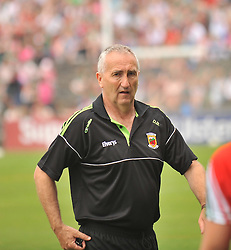 Mayo Trainer Donie Buckley at the Connacht Final in McHale Park.<br /> Pic Conor McKeown