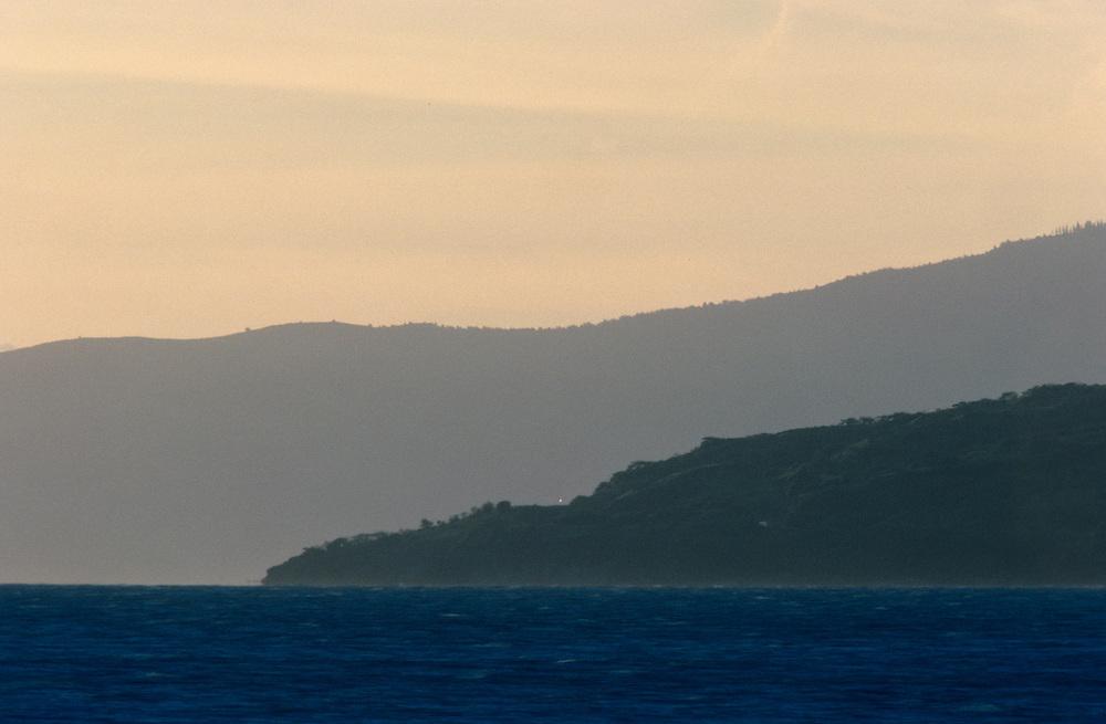 Hawaii, Maui, The Valley Island, View of West Maui from Wailea