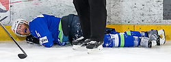 13.02.2016, Olympiaworld, Innsbruck, AUT, Euro Ice Hockey Challenge, Slowakei vs Slowenien, im Bild Andrej Tavzelj (SLO) // Andrej Tavzelj of Slowenia during the Euro Icehockey Challenge Match between Slovakia and Slovenia at the Olympiaworld in Innsbruck, Austria on 2016/02/13. EXPA Pictures © 2016, PhotoCredit: EXPA/ Jakob Gruber