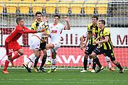 Phoenix goal keeper Keegan Smith saves a goall attempt during the Hyundai A-League 2017-18 game between Wellington Phoenix v Adelaide United, Westpac Stadium, Sunday 08th October 2017. Copyright Photo: Raghavan Venugopal / © www.Photosport.nz 2017