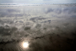 NEW ZEALAND PIHA BEACH 12DEC07 - Cloud reflections on Piha Beach, West Coast of northern Island, New Zealand...jre/Photo by Jiri Rezac..© Jiri Rezac 2007..Contact: +44 (0) 7050 110 417.Mobile:  +44 (0) 7801 337 683.Office:  +44 (0) 20 8968 9635..Email:   jiri@jirirezac.com.Web:    www.jirirezac.com..© All images Jiri Rezac 2007 - All rights reserved.