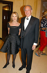 LORD & LADY WEINBERG she is designer Anouska Hempel at 'A Rout' an evening of late evening party, essentially of revellers in aid of the Great Ormond Street Hospital Children's Charity and held at Claridge's, Brook Street, London W1 on 25th January 2005.<br />