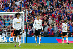 Chris Smalling of Manchester United looks dejected after Crystal Palace go 1-0 up - Mandatory byline: Rogan Thomson/JMP - 21/05/2016 - FOOTBALL - Wembley Stadium - London, England - Crystal Palace v Manchester United - FA Cup Final.