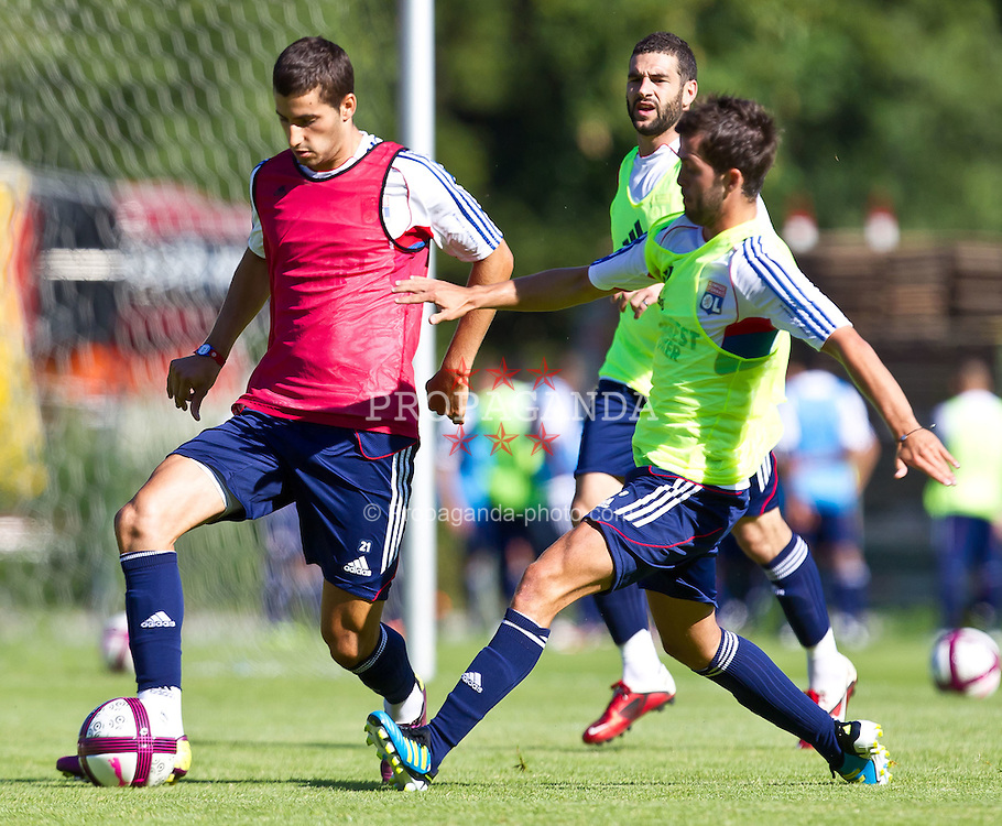 04.07.2011, Alois Latini Stadion, Zell am See, AUT, Olympique Lyon, Training, im Bild Maxime Gonalons, Olympique Lyon, Lisandro López, Olympique Lyon, Miralem Pjanic, Olympique Lyon // during a training session of AUT, Olympique Lyon, in Zell am See, Austria on 2011/07/04, EXPA Pictures © 2011, PhotoCredit: EXPA/ J. Feichter