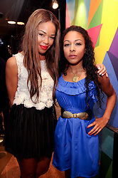 Left to right, SARAH JANE CRAWFORD and KATHRYN DRYSDALE at a party to celebrate the Firetrap Watches and Kate Moross Collaboration Launch, held at Firetrap, 21 Earlham Street, London, UK on 13th October 2010.