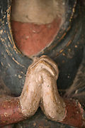 close up of the hands of Maria the mother of Jesus praying