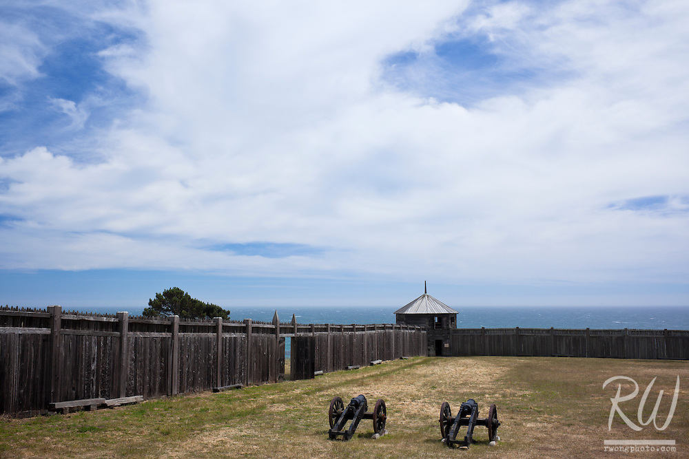 Fort Ross State Historic Park is an Old Russian Military Outpost Located on a Bluff Above the Pacific Ocean, Sonoma Coast, California