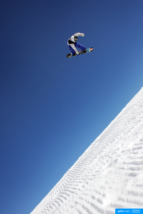 Torgeir Bergrem, Norway, in action during the Snowboard Slopestyle Men's competition at Snow Park, New Zealand during the Winter Games. Wanaka, New Zealand, 21st August 2011. Photo Tim Clayton
