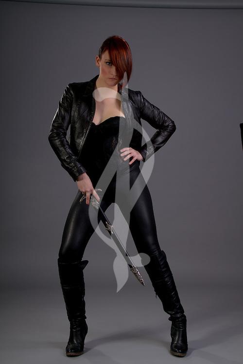 Urban Fantasy Female with Sword and/or Dagger. Urban Fantasy/Paranormal Female