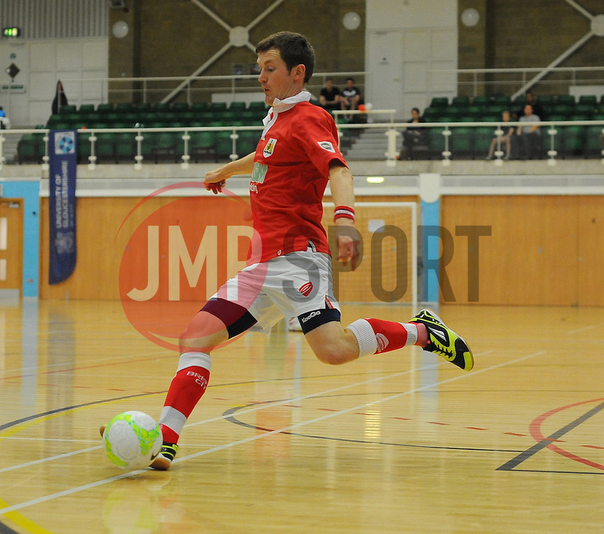 Bristol City Futsal in action against Gloucester University. - Photo mandatory by-line: Nizaam Jones - Mobile: 07583 387221 - 02/11/2014 - SPORT - Futsal - Gloucester - Gloucester University - v BCFC Futsal- Sport