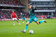 Swansea City midfielder Tom Carroll (14) in action during the EFL Sky Bet Championship match between Barnsley and Swansea City at Oakwell, Barnsley, England on 19 October 2019.