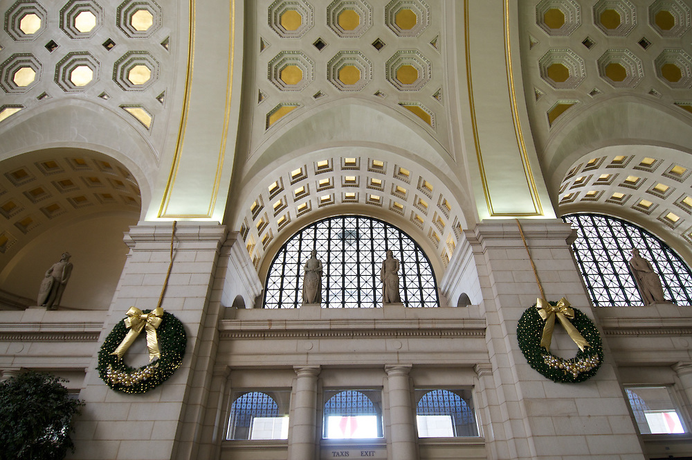 Washington DC, Jefferson Memorial, Washington Monument and Union Station