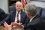 Dr. Roy Jensen, Director of University of Kansas Cancer Center, meets with Sen. Jerry Moran (R-KS) and staff during the Association of American Cancer Institutes and American Association for Cancer Research Capitol Hill Day on April 24, 2018. (Photo by Alan Lessig)