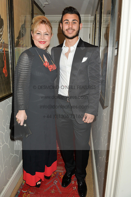 MRS DEMET CETINDOGAN and her son CEVDET CETINDOGAN at a private screening of 'A Postcard From Istanbul' directed by John Malkovich In Collaboration With St. Regis Hotels & Resorts held at 5 Hertford Street, London on 3rd March 2015