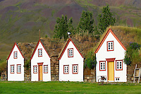 Islande, ferme traditionnelle de Laufas, region de Akureyri // Iceland, traditional farm of Laufas around Akureyri
