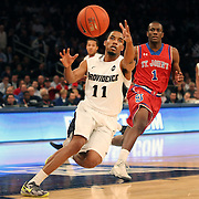 Bryce Cotton, Providence, in action during the Providence Vs St. John's Red Storm basketball game during the Big East Conference Tournament at Madison Square Garden, New York, USA. 12th March 2014. Photo Tim Clayton