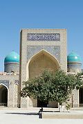 Uzbekistan, Bukhara. Kalon Ensemble. Domes of Mir-i-Arab Medressa.