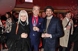 Left to right, ELISKA SOPERA, RENE DEKKER and SHAUN DARLINGTON at the London Design Week 2013 Party, held at the Design Centre, Chelsea Harbour, London SW10 on 18th March 2013.