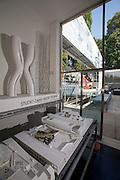 "12th Biennale of Architecture. Giardini. Austrian Pavillion. Group exhibition ""Austria Under Construction: Austrian Architecture Around the World; International Architecture in Austria"". Studio Zaha Hadid, Vienna."
