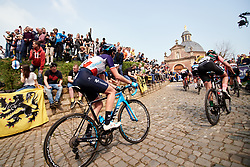 Aude Biannic (FRA) on Muur van Geraardsbergen at Ronde van Vlaanderen - Elite Women 2019, a 159.2 km road race starting and finishing in Oudenaarde, Belgium on April 7, 2019. Photo by Sean Robinson/velofocus.com